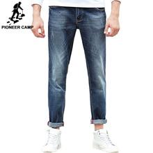 פיוניר מחנה ג ינס גברים מותג בגדים באיכות גבוהה Slim זכר מכנסי קזואל באיכות כותנה ג ינס מכנסיים לגברים 655122