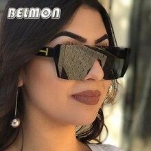 Sunglasses Women Fashion Sun Glasses Luxury Brand Designer For Ladies UV400 Female  Semi-Rimless Big Frame Eyewear RS247