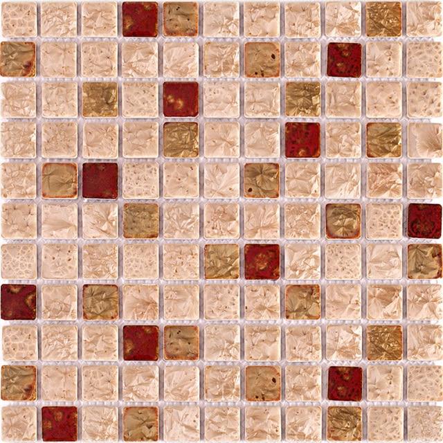 TST Ceramic Tile Mosaic Art Rose Pink Red Mosaics Fambe