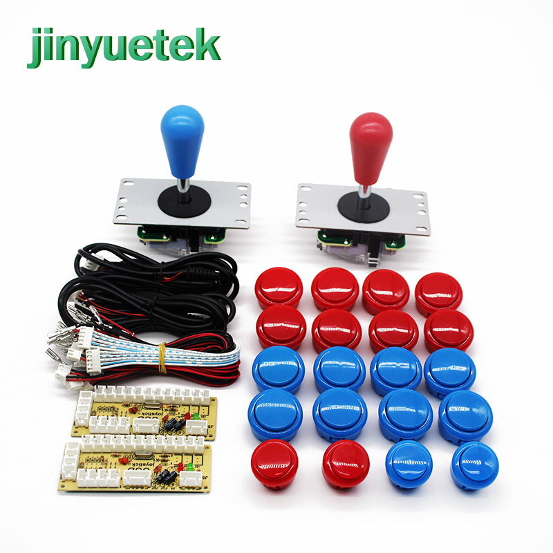 Fast Shipping Arcade Diy Kit Joystick Bartop Kit Sanwa Fliperama Maquina Mandos Arcade 2 Player Button Set Americano Zero Delay