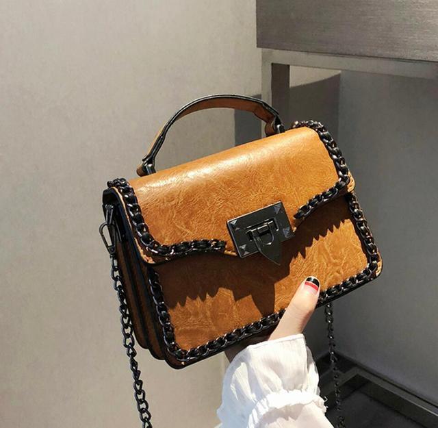 Female Quality Retro Square Handbag