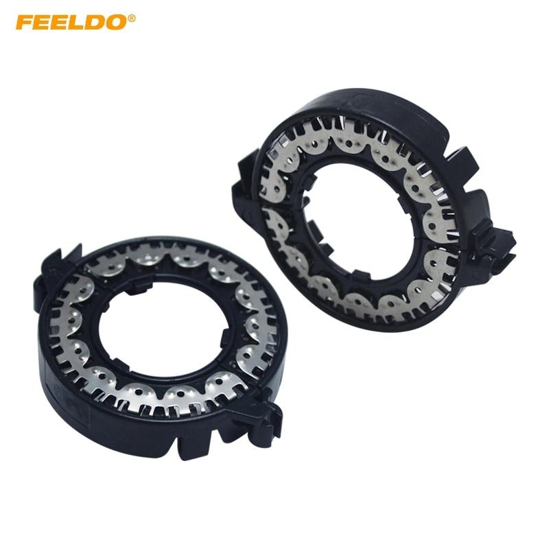 Feeldo 2x Auto D1 Hid Xenon Bulb Holder Base Adapter Car D1 Hid Bulb Bracket Retainers Sockets #5563 Car Lights