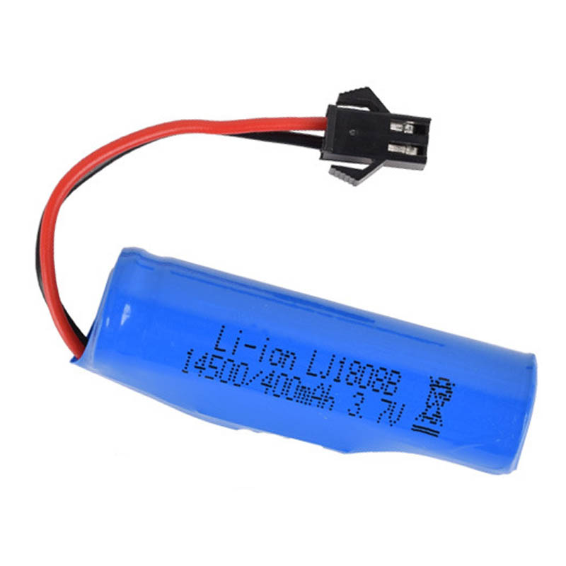 <font><b>3.7v</b></font> <font><b>400mAh</b></font> 14500 Li-ion <font><b>Battery</b></font> Electric RC car upgrade lithium <font><b>battery</b></font> CREATIVE DOUBLE STAR Double-sided stunt dump truck image