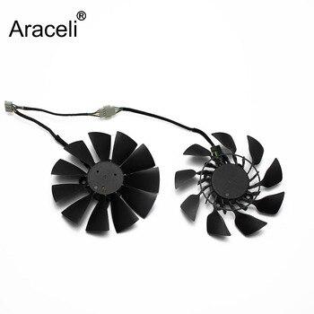 цена на 2PCS/lot 95MM FD9015U12S DC 12V 0.55A For ASUS GTX760 780 780TI R9 280 290 R9 280X 290X R9 390 390X GTX970 VGA Card Cooling Fan