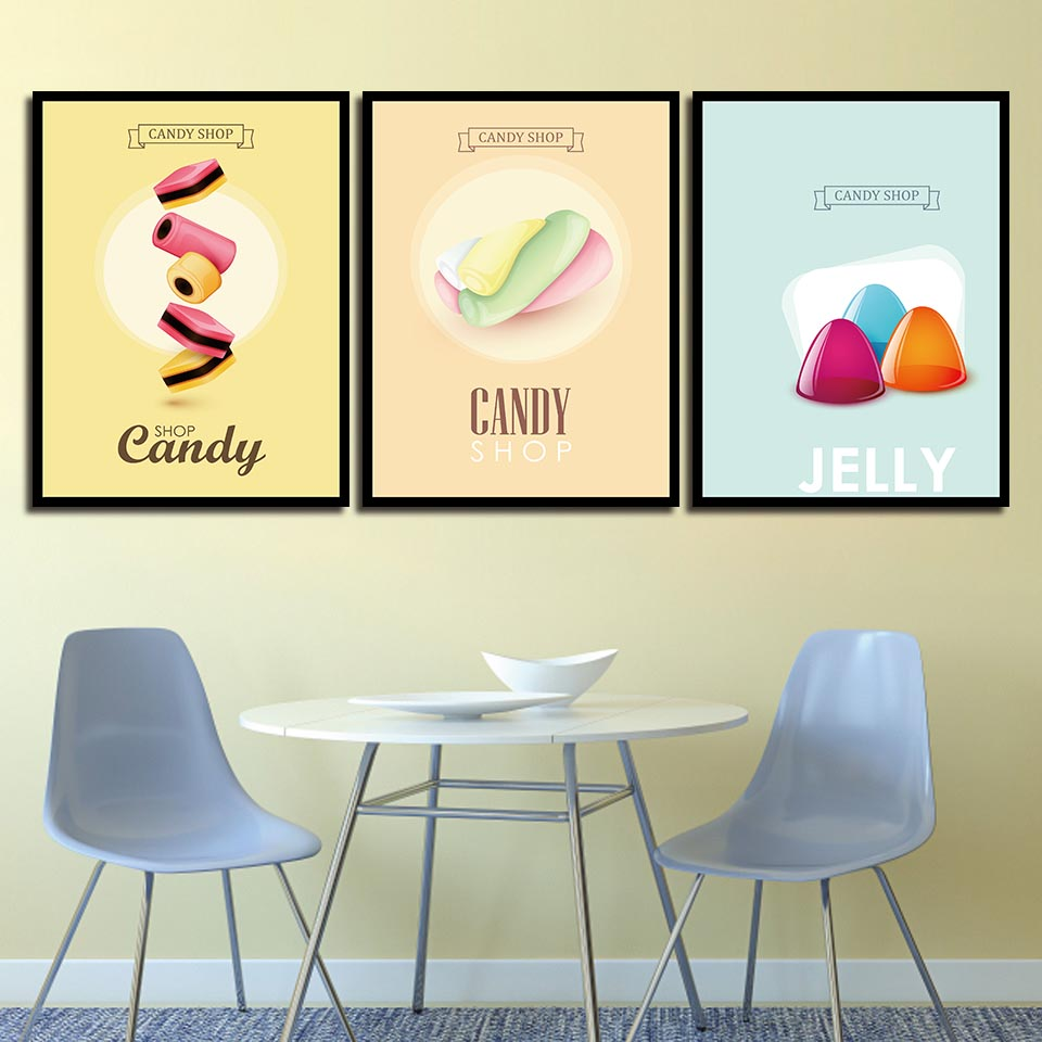 HD Picture Canvas Wall Art Painting Abstract Candy Shop Jelly ...