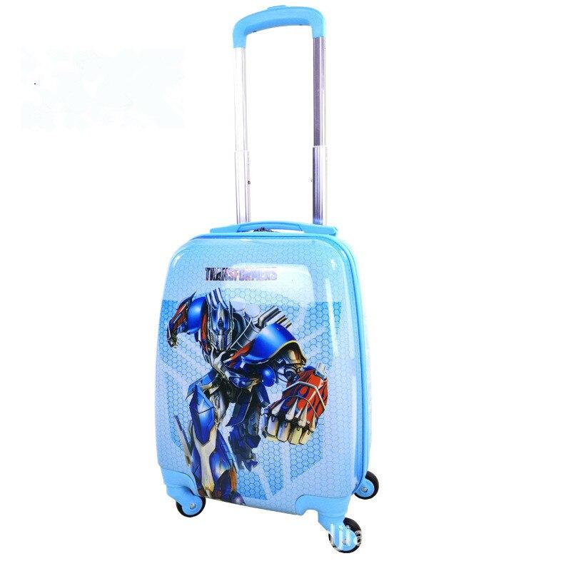 Studentski crtani kovčeg 16 inča Djeca usmjerena kotača kolica - Torbe za prtljagu i putovanje - Foto 6
