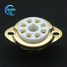 Free Shipping  10PCS  8MPC1-G new 8-pin  Gold  tube sockets ceramic base suitable for EL34.6CA7.KT88.6550.6P3P.6L6GC