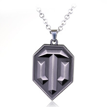 Hot Sell World of Tanks Alloy Necklaces & Pendants Hot Game WOT Cool Necklace for Men Fashion Jewelry Kolye