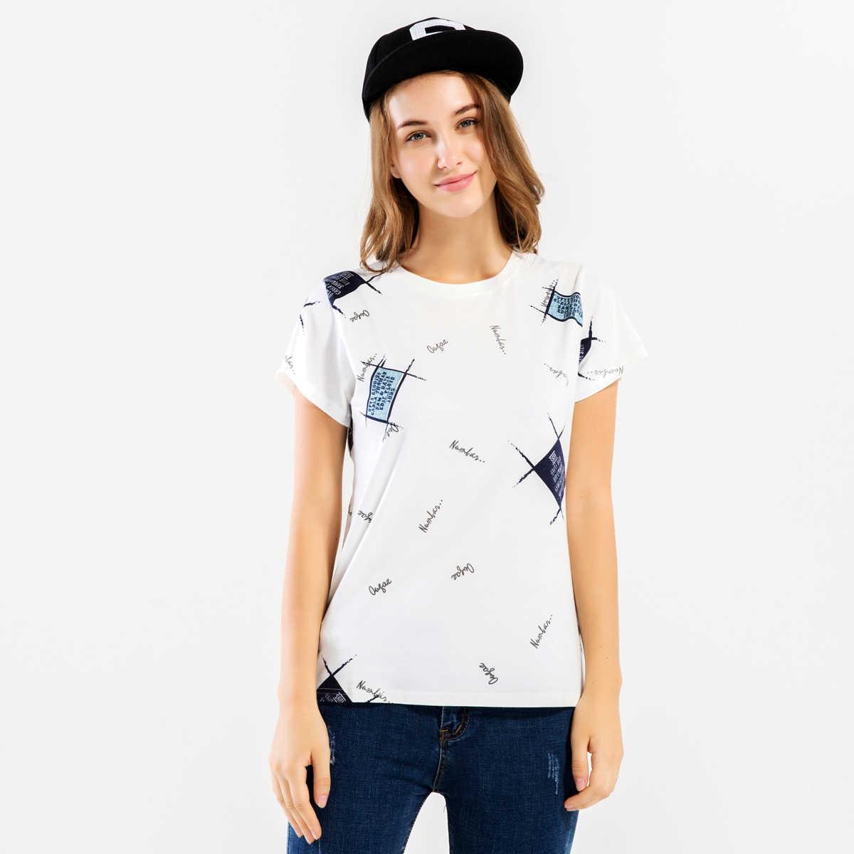 Haut Femme с забавной надписью Объёмный рисунок (3D-принт) camisetas женские 2019 летняя футболка с короткими рукавами с О-образным вырезом футболки Топ для женщин бодибилдинг одежда S-XL