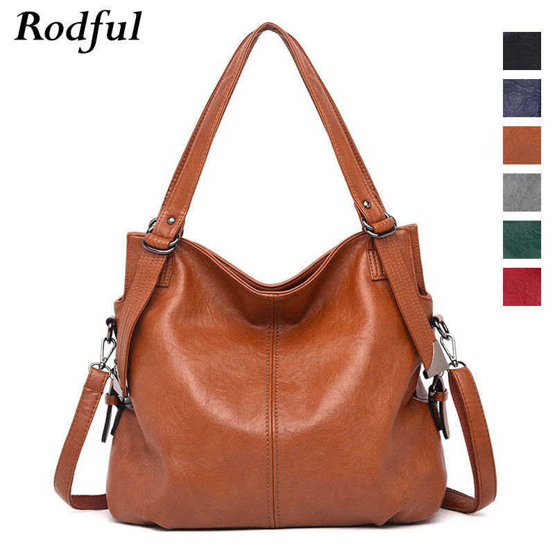 Rodful Large Tote Bags Women's Shoulder Bag Ladies Genuine Leather Handbags Female Black Red Gray Hand Bag 2019 Sac A Main Femme