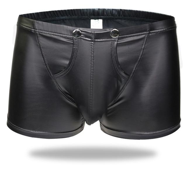 Sous-vêtements masculins Sexy Look humide Boxer slip U forme entrejambe bomge Shorts Pole Dance fétiche tenue de boîte de nuit Lingerie pour lui tenue