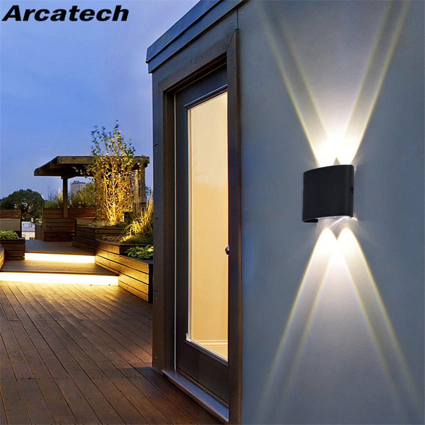 LED Wall Light Outdoor Waterproof Modern Nordic Style Indoor Wall Lamps Living Room Porch Garden Lamp 2W 4W 6W 8W NR-69