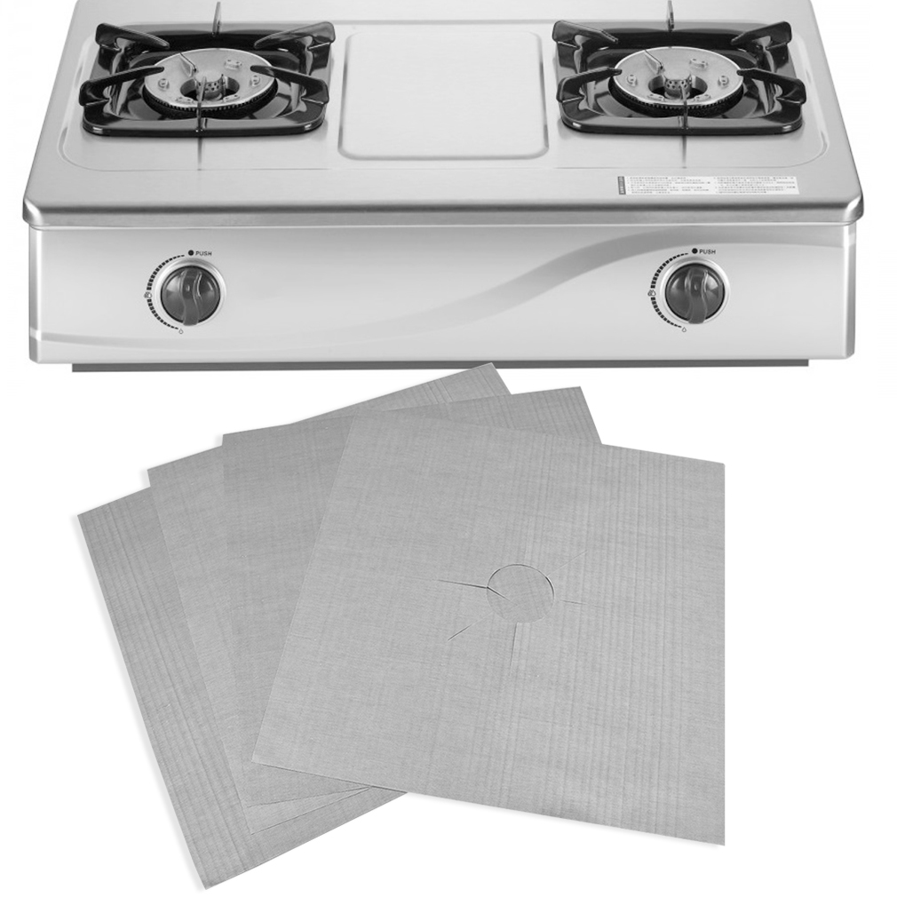 4Pcs per Set Reusable 27x27Cm Stove Cover for Kitchen Used as Anti Fouling Oil Protector 6