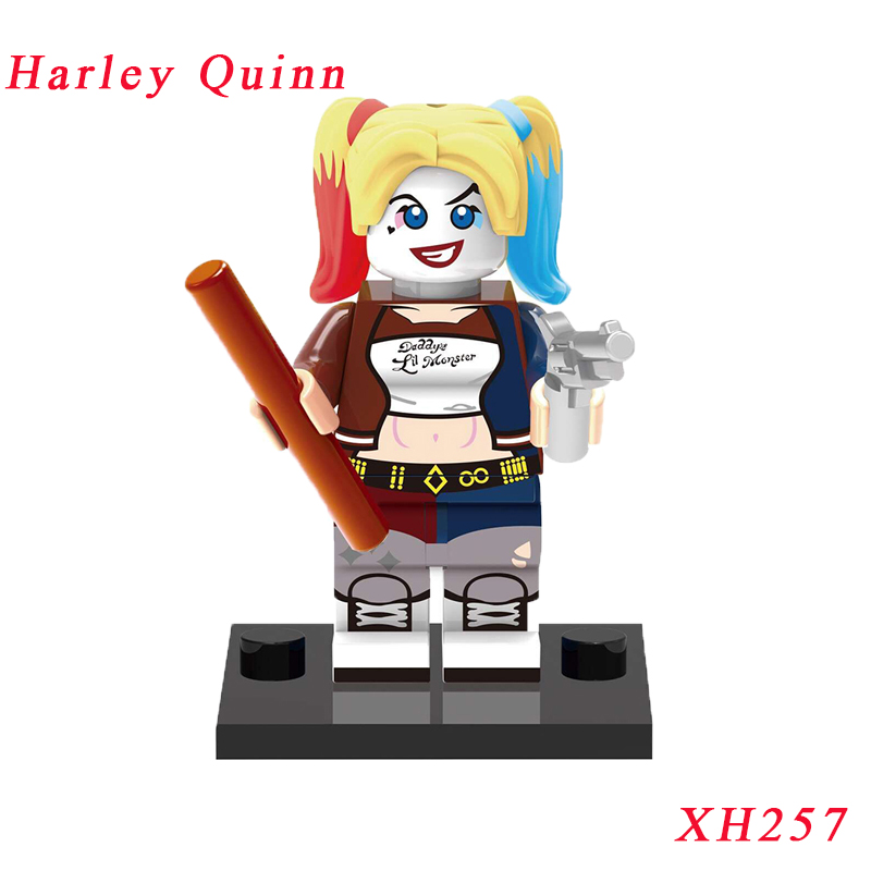 Harley Quinn Bricks Single Sale Suicide Squad Harleen Quinzel Spideman Super Heroes Star Wars Model Building Block Kids Gift fashion long with bunches synthetic fluffy wavy ombre suicide squad harleen quinzel cosplay wig