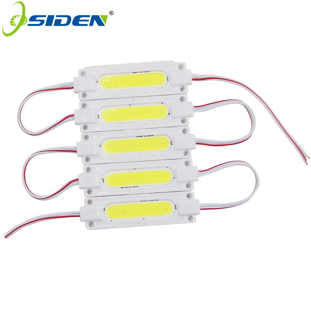 OSIDEN COB LED Module Ulter Brightness 2W DC12V COB Light Advertising Lamp Waterproof Led Sign Backlights White 20pcs/couple