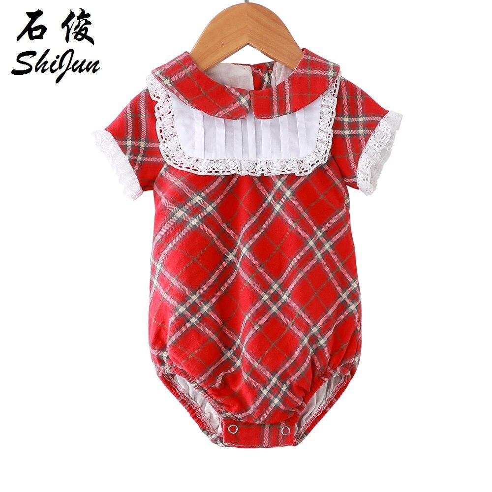 717d6e7e39e8 Shijun Toddler Clothes 2019 Summer Spanish Peter Pan Collar Baby ...