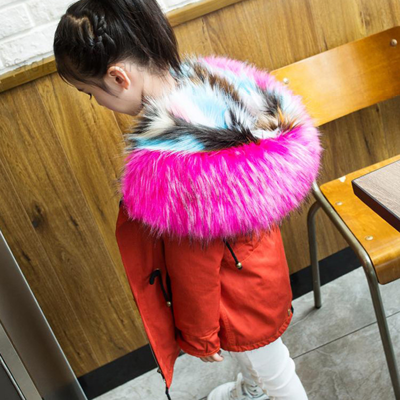 2018 children's imitation fur coat boy and girl fox fur coat autumn and winter children's fake fur school to overcome new FPC-24
