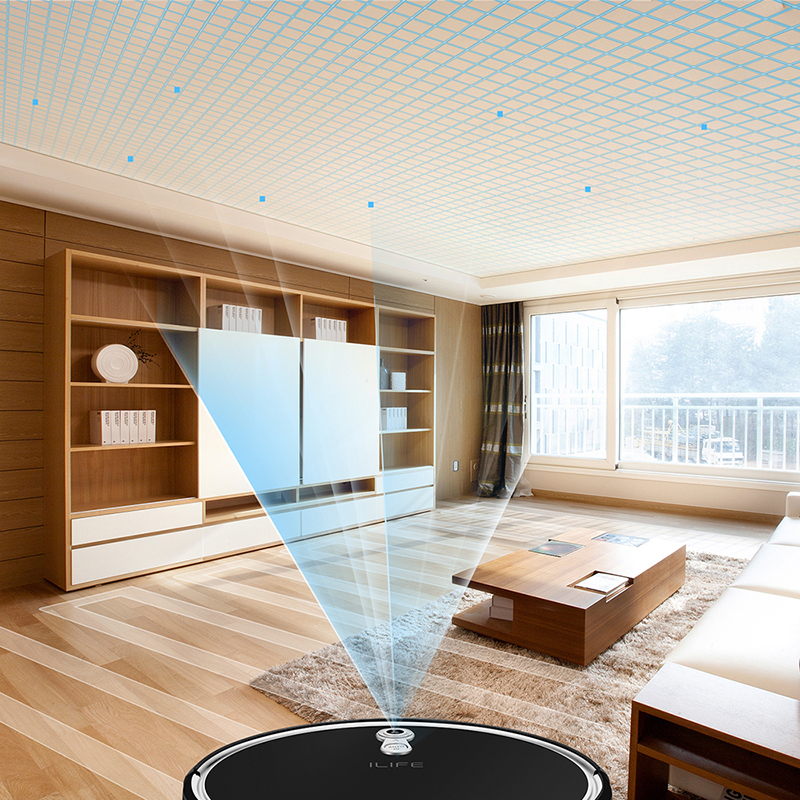ILIFE  A8 Robot Vacuum Cleaner for Thin Carpet Camera Navigation Various Cleaning modes 5