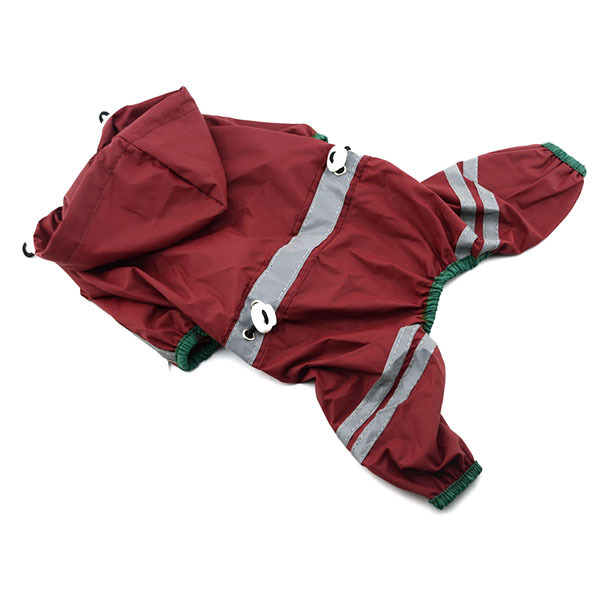 Cozy Pet Dog Cool Raincoat Glisten Bar Hoodie Waterproof Rain Lovely Jackets Large