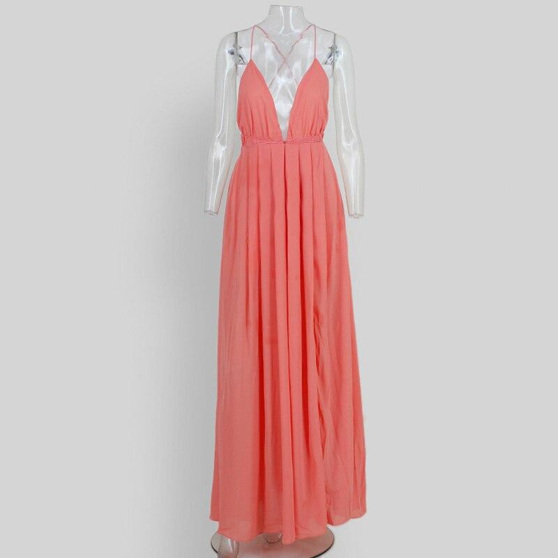 HTB10ICdSXXXXXc XFXXq6xXFXXXI - 2018 New Fashion Sling Bandage Maxi Long Dress Women's Robe Long femme vestido de festa elbise