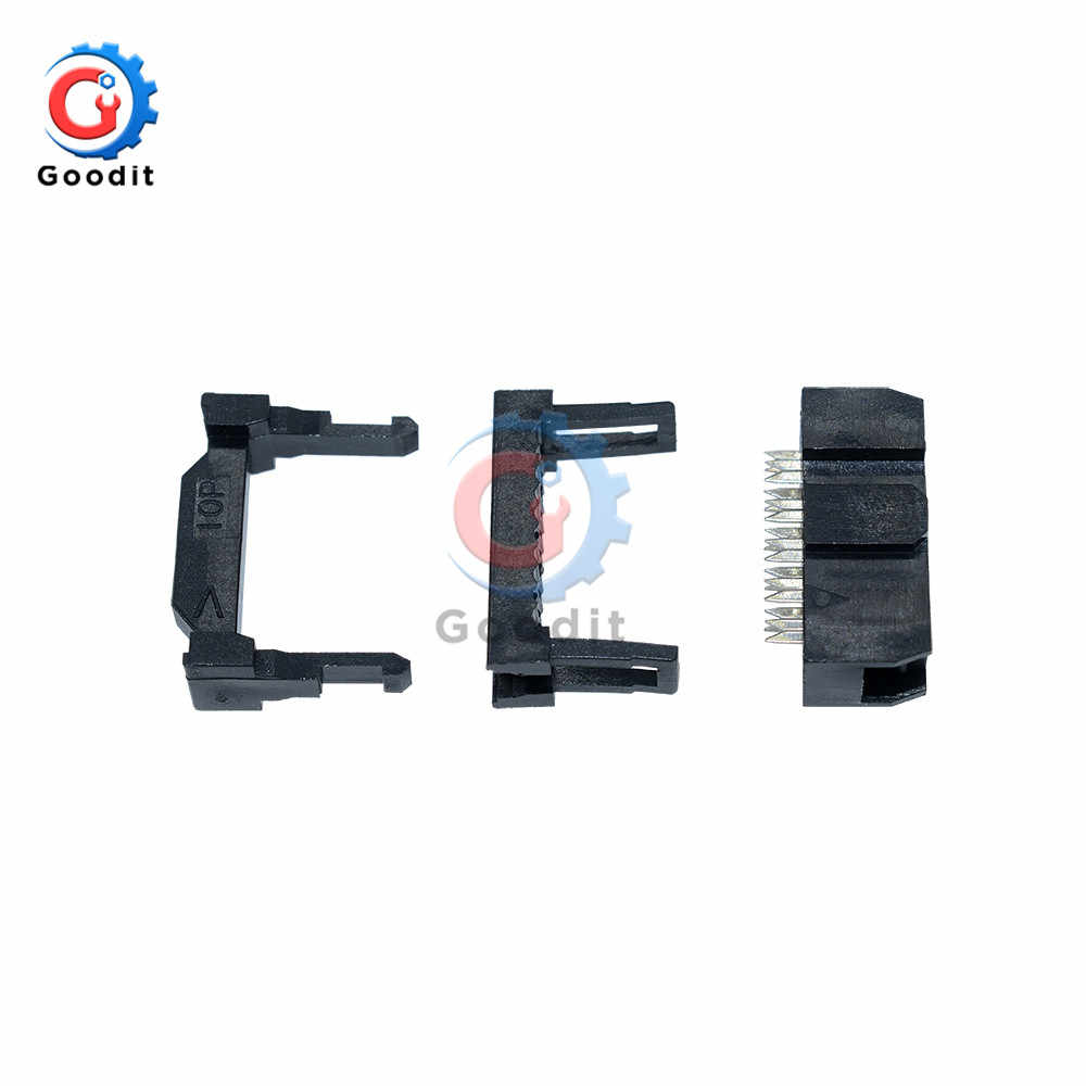 10 Pcs IDC 2.54 Mm Female Header Soket Konektor 2X5 Pin 10 Pin FC-10