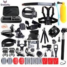 SnowHu для Gopro Аксессуары для go pro hero 5 4 3 комплект крепление для SJCAM SJ4000 для xiaomi yi камеры для eken h9 штатив GS24