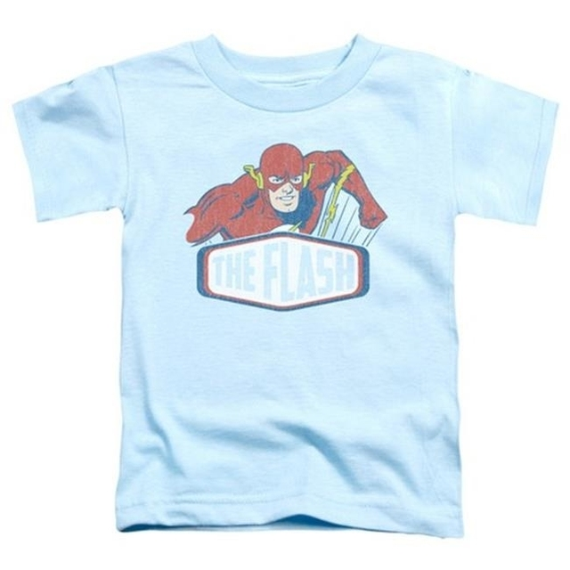 Trevco Dco-Flash Sign – Short Sleeve Toddler Tee – Light Blue Large 4T