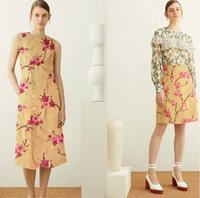 Wholesale Plum Blossom Embroidery Cotton Khaki Canvas Fabric Dresses Print Satin Floral Process Cheap Fabrics Stripe