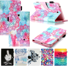 Tablet T230 T231 T235 Funda For Samsung Galaxy Tab 4 7.0 inch Fashion Mandala Leather Flip Wallet Case Cover Coque Shell Stand стоимость