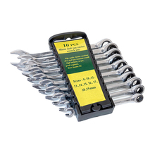 Conjunto de ferramentas de chave eletrônica, 8 19mm, ferramentas para porca, para reparo de carro, chave com catraca, acabamento de prata, estojo de fixadores