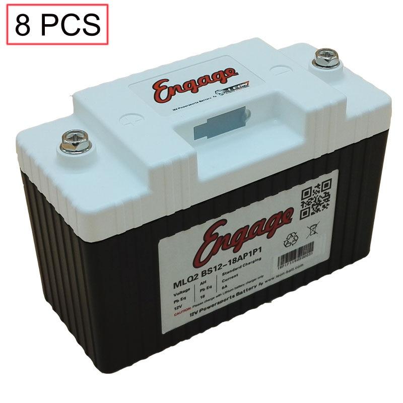 8pcs/lot Motorcycle battery Engage starter LiFePO4 12v