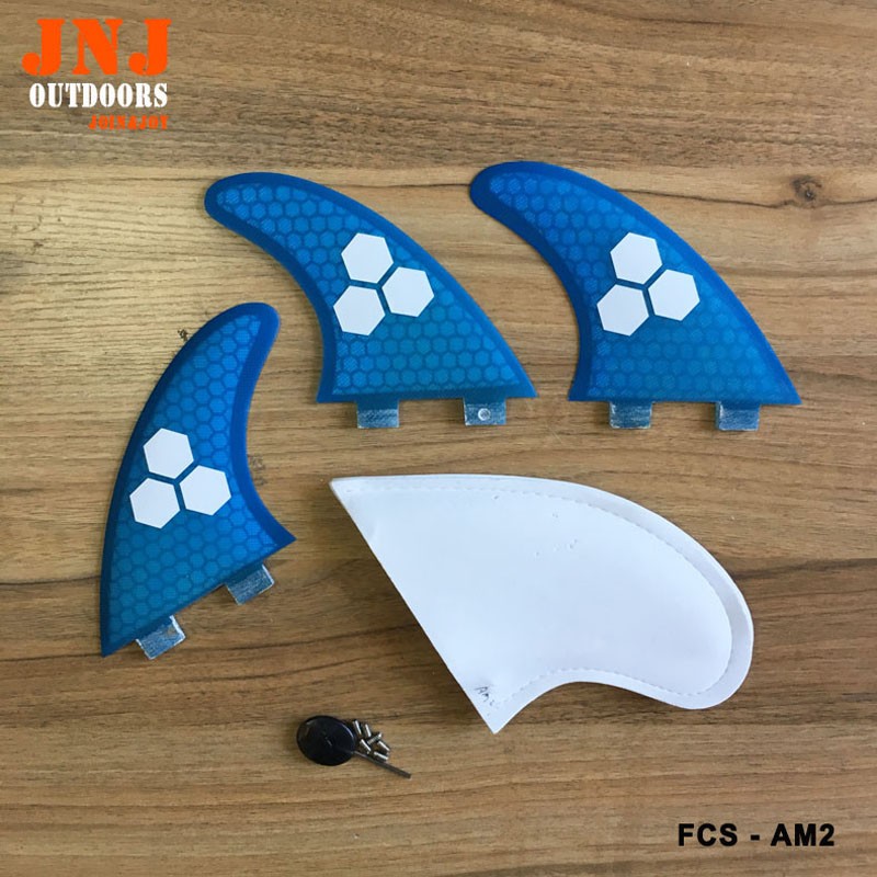 FREE shipping AM2 FCS fin made by honeycomb and fiberglass AM2 TRI FIN FCS LFREE shipping AM2 FCS fin made by honeycomb and fiberglass AM2 TRI FIN FCS L