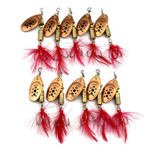 100pcs 6.5cm 5.3g hard metal trolling spinnerbait bass wobbler catfish pike carp trout perch fishing baits pesca fishing tackles