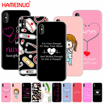 HAMEINUO Nurse Medical Medicine Health Heart Stethoscope cell phone Cover case for iphone X 8 7 6 4 4s 5 5s SE 5c 6s plus