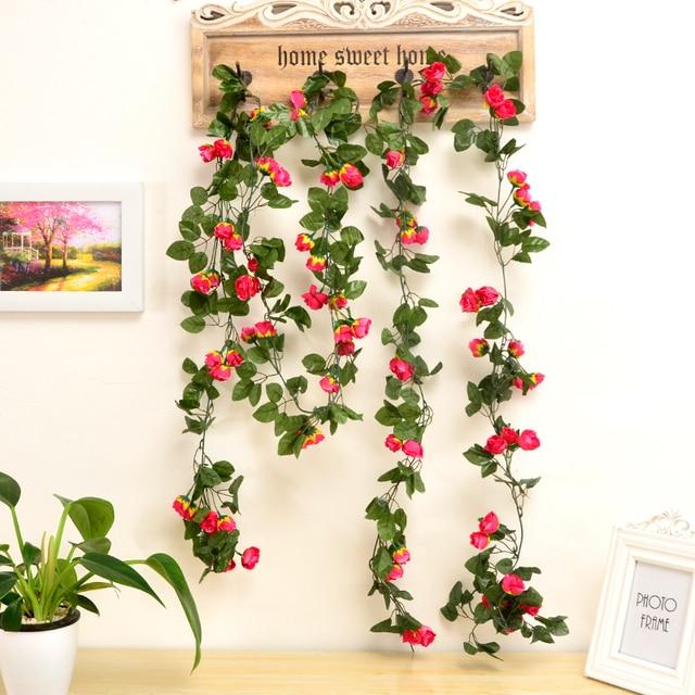6 Strands Artificial Flower Vine Wedding Ceiling Haning Flower