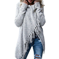 KANCOOLD sweater new Solid sweater women Scarf collar Pullovers Casual sweater women 100 cashmere sweater women nov14