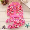 BibiCola Otoño invierno de los bebés ropa fijada ropa de navidad ropa set kids espesar Cálidos Térmicas suéteres cardigan + pant
