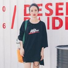 цены на Summer Tops for Women 2019 New Arrival Korean Style Fashion Letter Printed Oversized T-shirt Friends Clothes T174  в интернет-магазинах