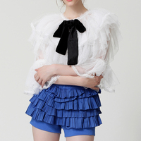 HIGH QUALITY New Fashion 2016 Designer Top Women S Ruffles Off The Shoulder Blouse