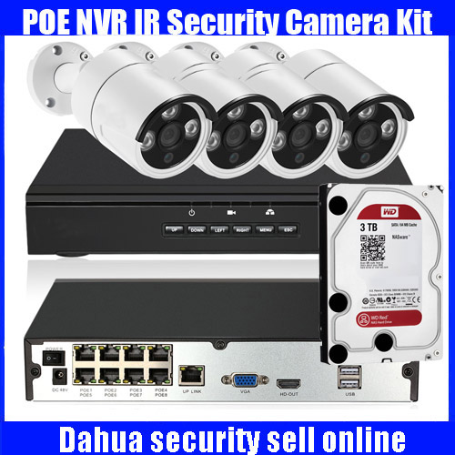 4CH Ch Full HD 1080P POE NVR Network Video Recorder with 4pcs 2.0MP POE Weatherproof Outdoor Bullet IP Camera Security Syetem poe ip camera 720p 1mp outdoor full hd weatherproof bullet security support two way audio