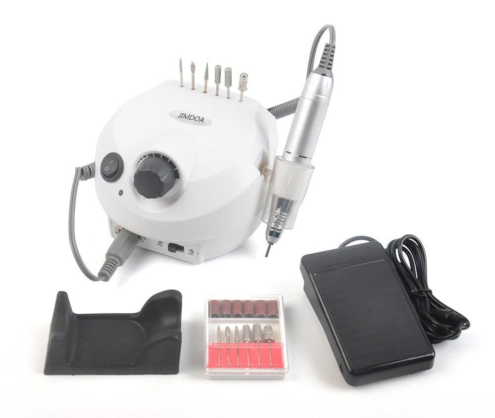 35000 RPM Pro Elektrisches Nagelbohrgerät Datei Bit Maschine Maniküre Mit Verbesserte Version Silikon Fall verbrühschutz Griff Maniküre Kit