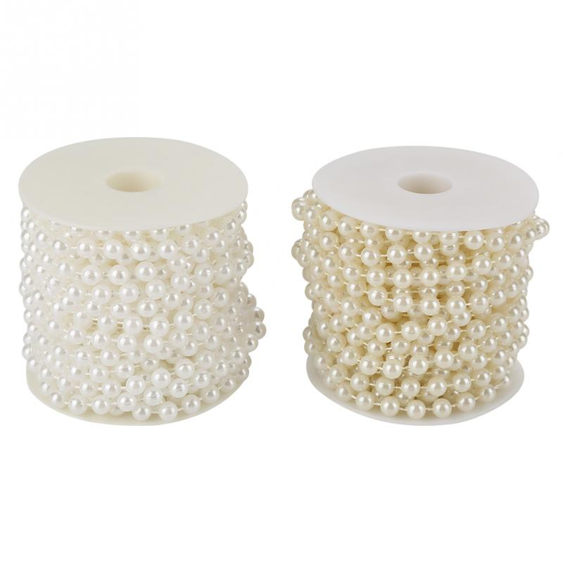 10m/roll Grinding Pearl Wire Beads Garland String DIY