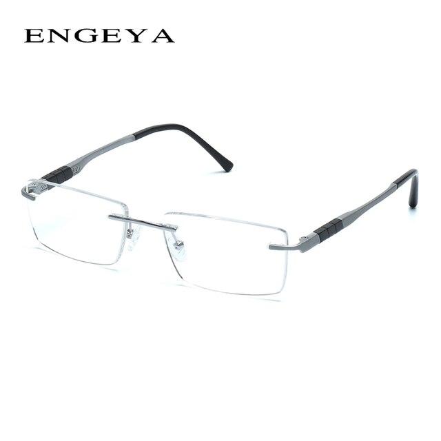 2016 ENGEYA Super Light Titanium Alloy Prescription Glasses Frame, Retro Clear Optical Rimless Eye Glasses Frames For Men #164