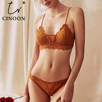 CINOON New Women's underwear Set Lace Sexy Push-up Bra And Panty Sets Comfortable Brassiere Embroidery Cotton Lingerie set - DISCOUNT ITEM  40% OFF All Category