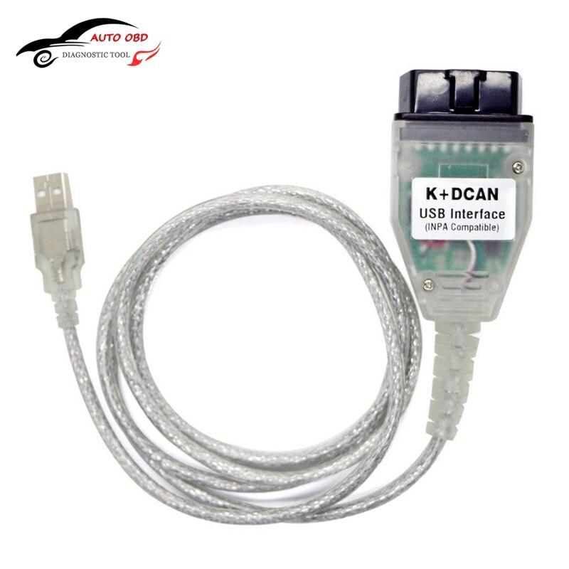 OBD OBD 2 USB Câbles Pour bmw Inpa Ediabas K + DCAN USB Interface Outil de diagnostic Pour BMW E46 INPA K + CAN K PEUT INPA FT232RL Puce