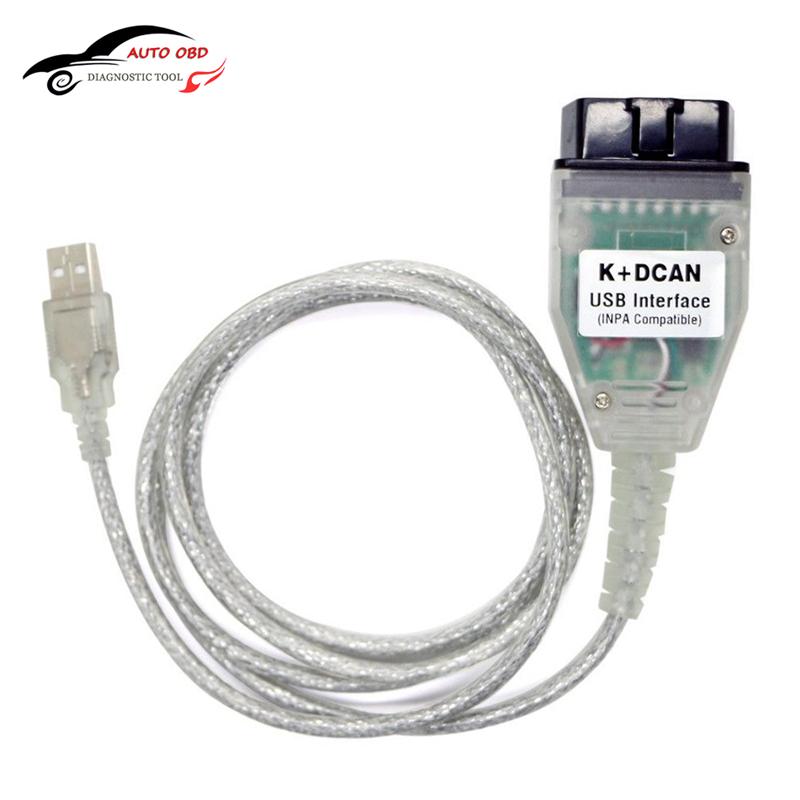 Prix pour OBD OBD 2 USB Câbles Pour bmw Inpa Ediabas K + DCAN USB Interface Outil de diagnostic Pour BMW E46 INPA K + CAN K PEUT INPA FT232RL Puce