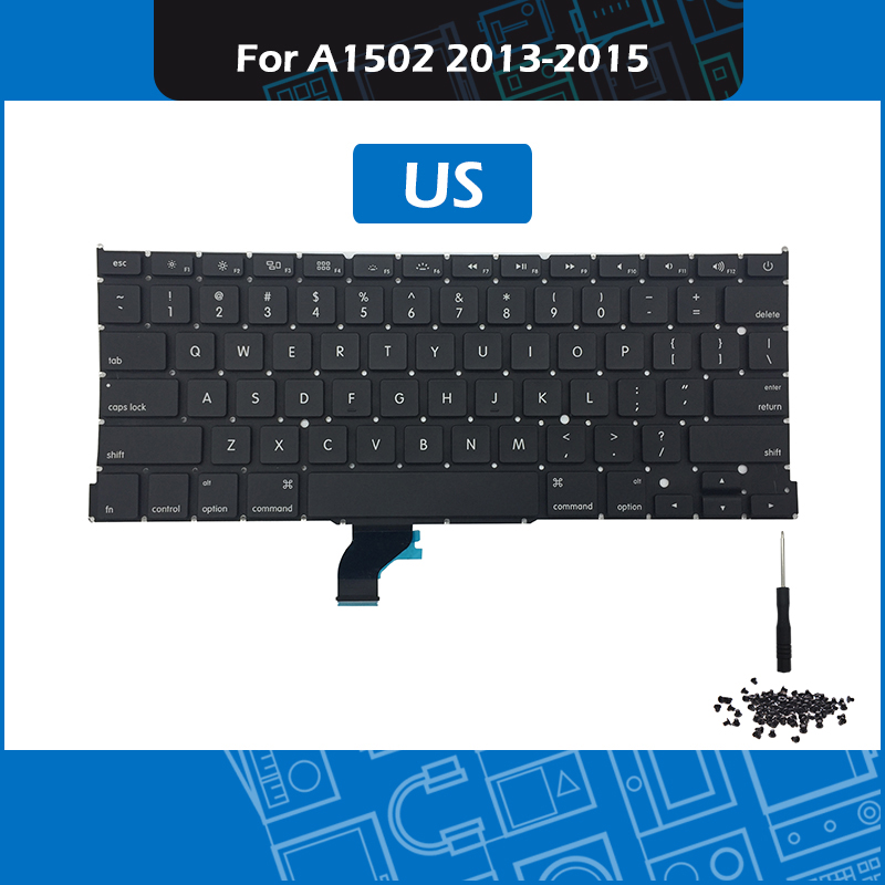 New Keyboard For Macbook Pro 13 A1502 US Standard Replacement Keyboard 2013 2014 2015 EMC 2678 2875 2835 image