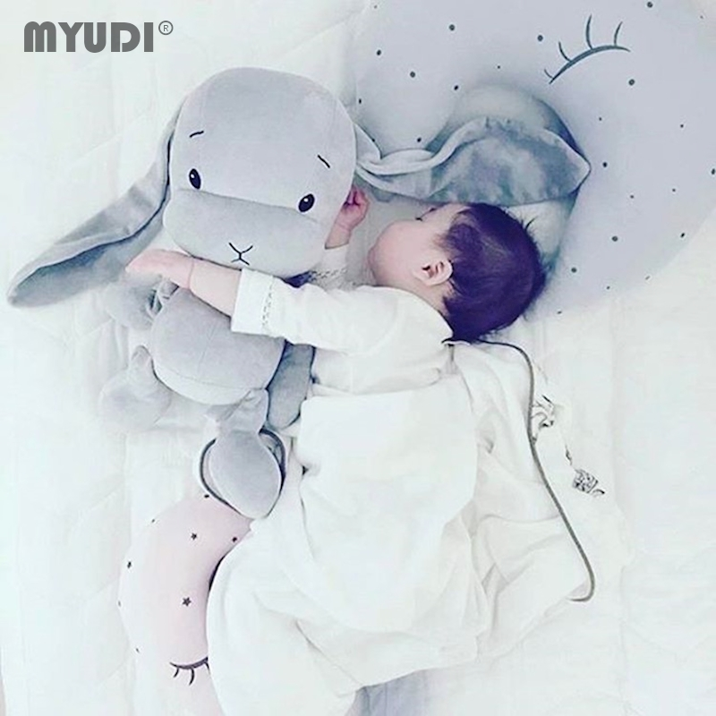 kawaii Lucky Rabbit Calm Dolls For Baby Children Stuffed Animals Pillow Baby Sleeping Cushion juguetes brinquedo Christmas gift hot sale cute dolls 60cm oblong animals pillow panda stuffed nanoparticle elephant plush toys rabbit cushion birthday gift