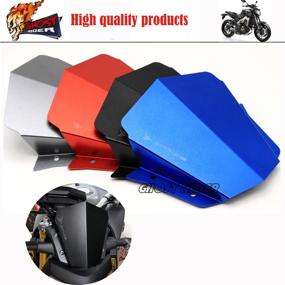 ФОТО Titanium Motorcycle Accessories Motorbike Windshield Windscreen fits For Yamaha MT09 MT-09 2014-2015 FJ-09 MT-09 Tracer 2015