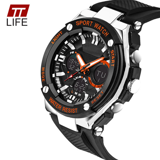2016 TTLIFE Brand 733 Male Watch Outdoor Sports Water Resistant LED Electronic Watches Shockproof Alarm Clock Relogio Masculino